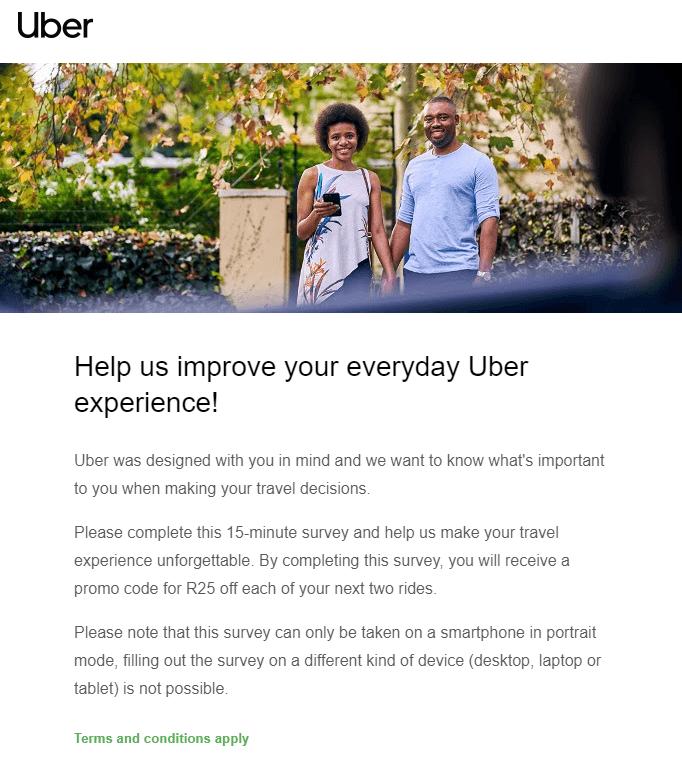 Uber customer satisfaction survey