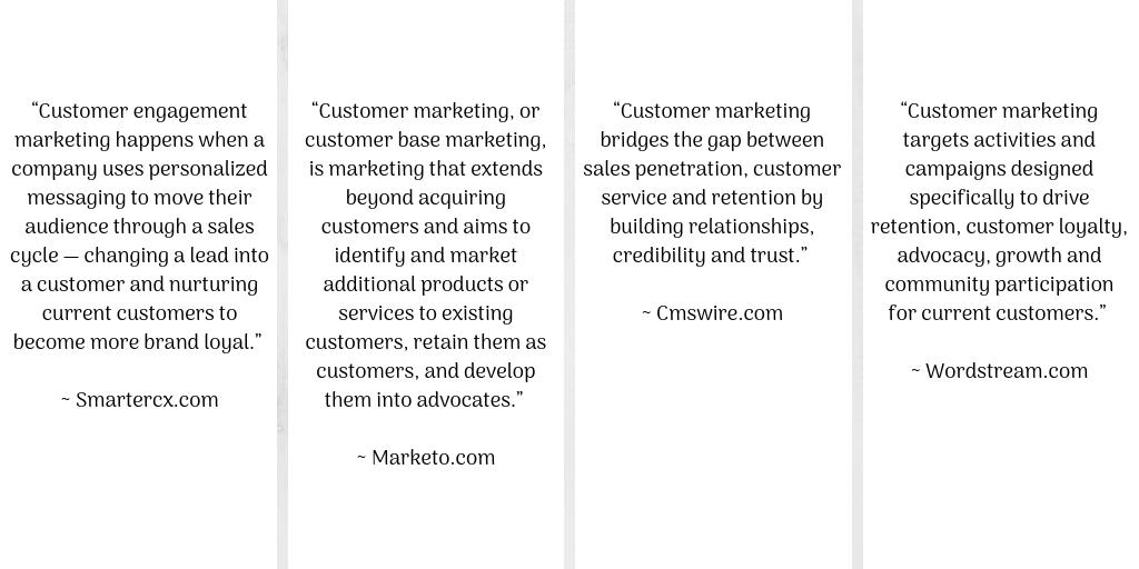 Customer marketing definitions
