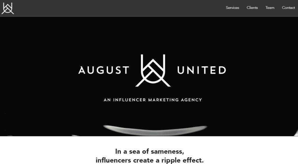 Influencer Marketing Agencies - August United
