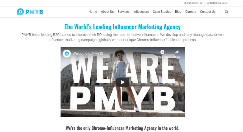 Influencer Marketing Agencies - PMYB