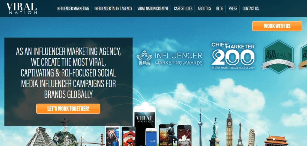 Influencer Marketing Agencies - Viral Nation