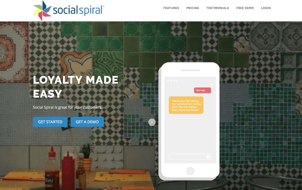 Social Spiral website