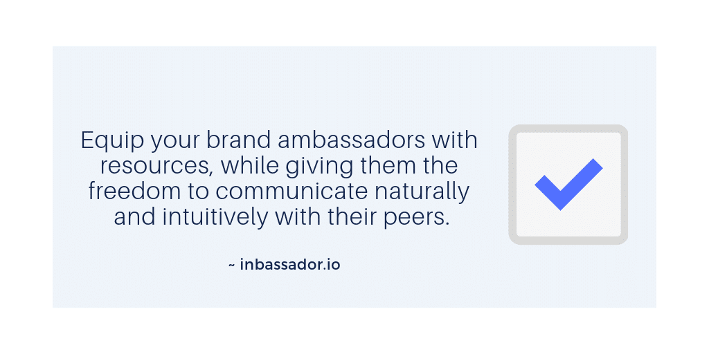 brand ambassador program tip 4