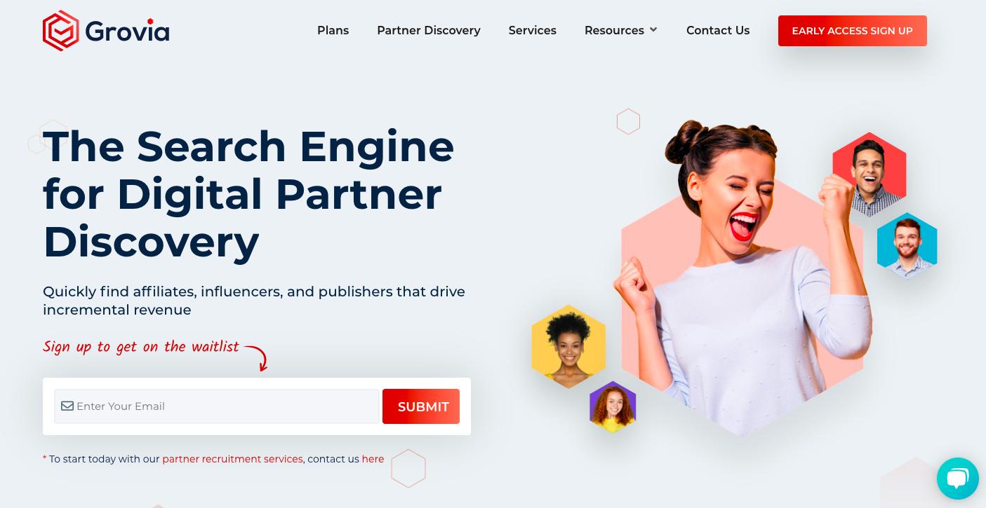 Grovia Homepage