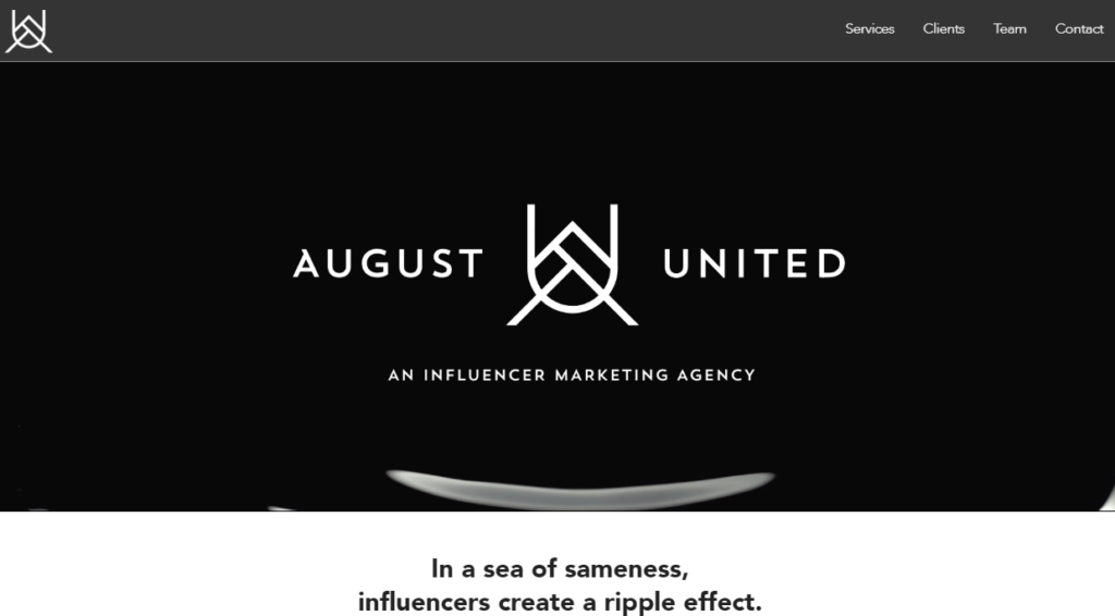 Influencer Marketing Agencies - August United