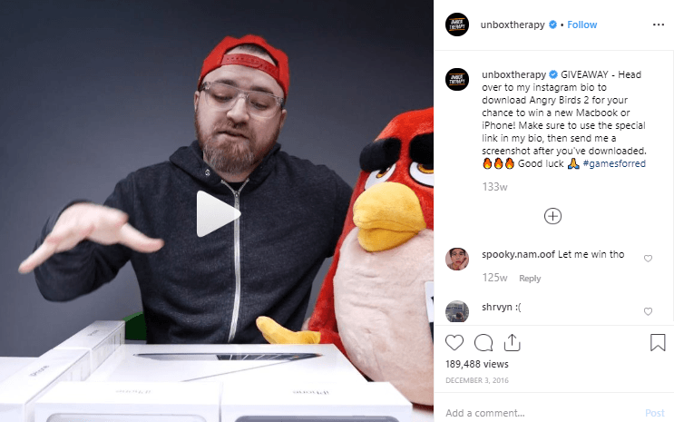 Influencer marketing examples - unboxtherapy