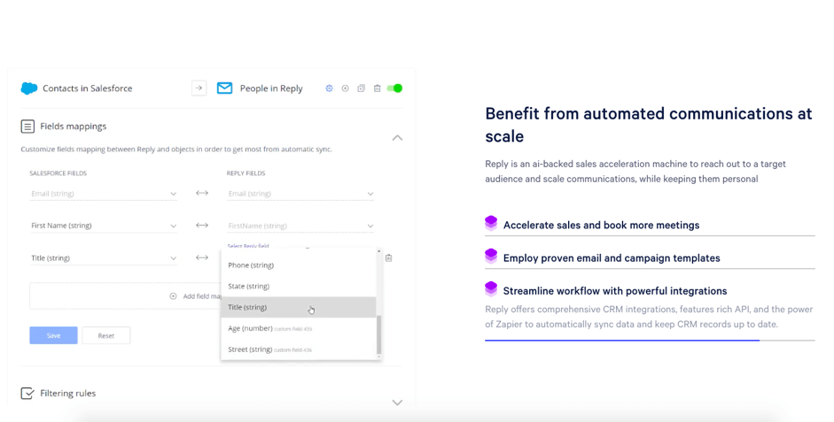 Reply- cold email tool benefits