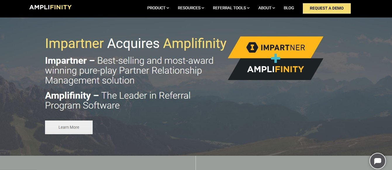 Amplifinity front page