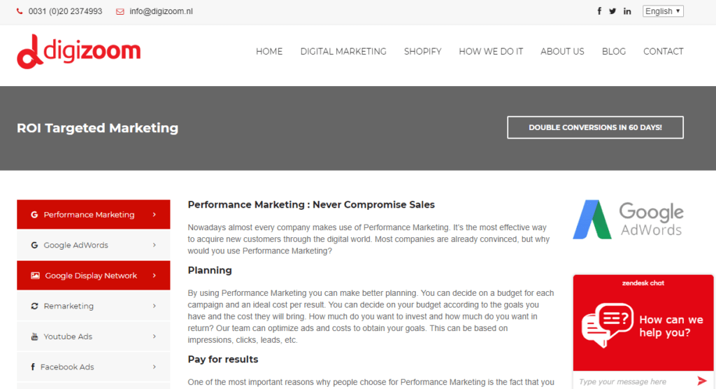 Performance Marketing Agencies: Digizoom