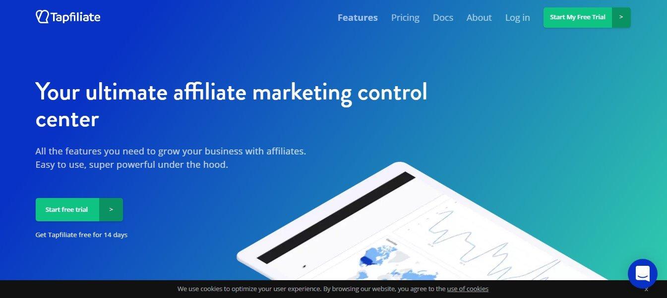 Web page Tapfiliate