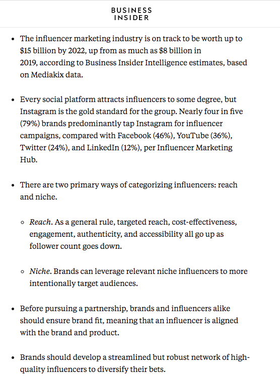 Business insider Key takeaways