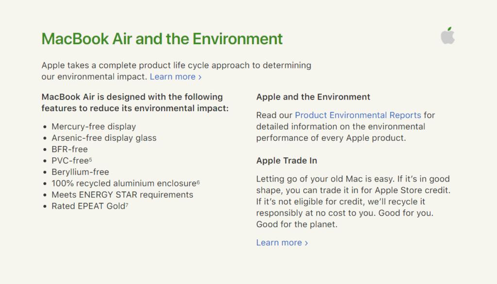 mac book air description