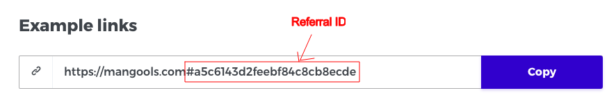 Referral Link Example