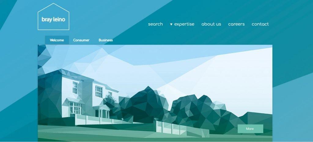 bray leino B2B marketing agency website