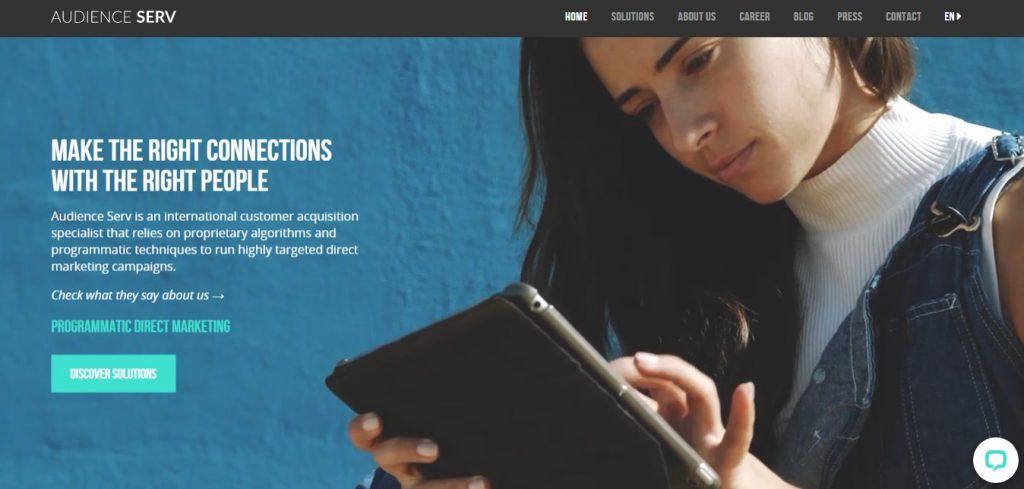 Audience Serv agency homepage