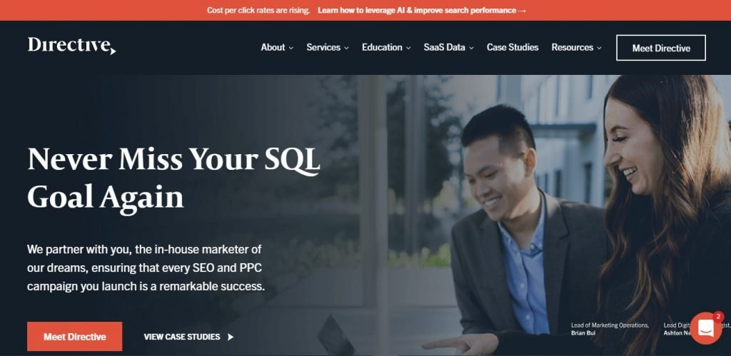 Directive SEM and PPC Agency homepage