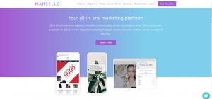 Screenshot of the Marsello Retail Marketing Platform Homepage