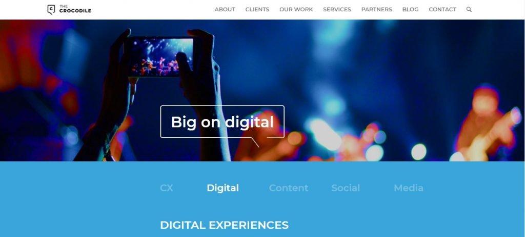 The Crocodile agency homepage