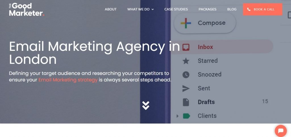 The Good Marketer landing page