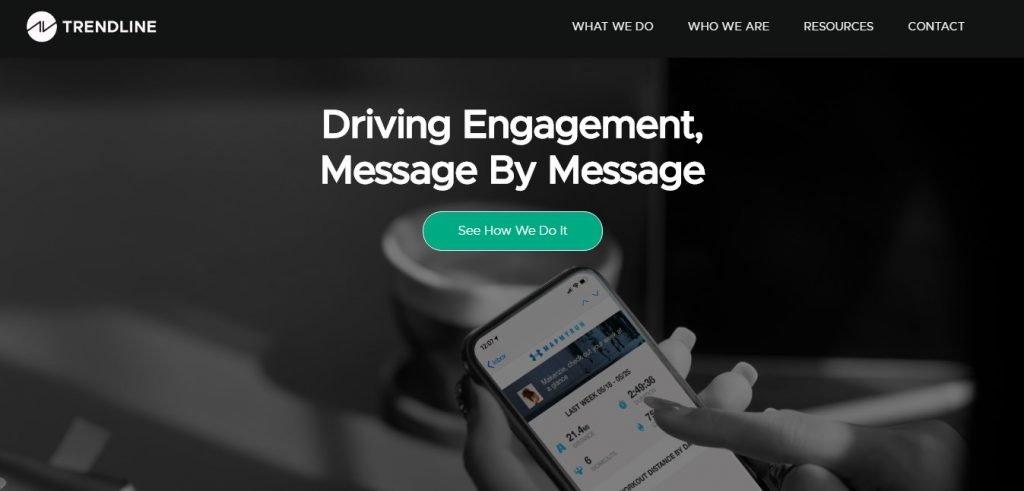 Trendline email marketing agency homepage