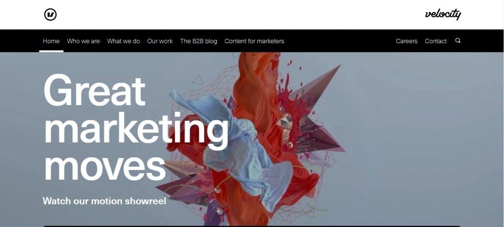 Velocity Partners agency homepage
