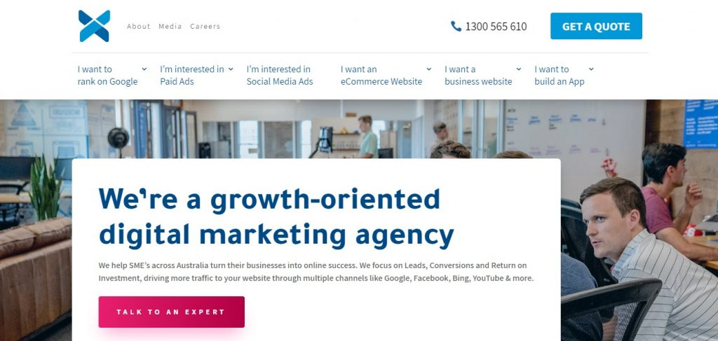 Xugar email agency homepage