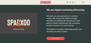 Screenshot of Sparxoo Digital Marketing Agency's Homepage
