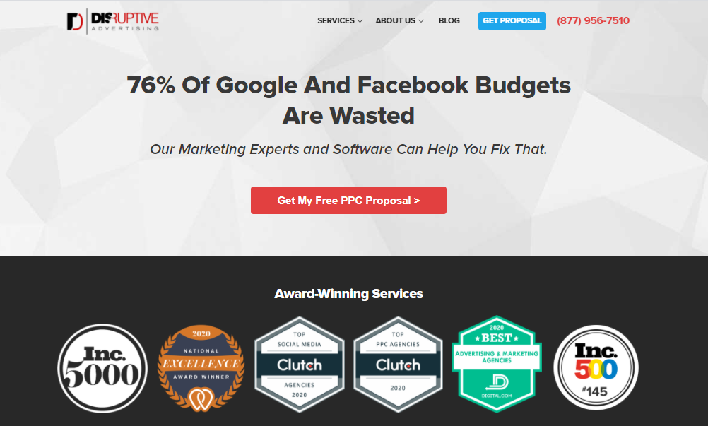Disruptive Advertising is an Award Winning Marketing Agency