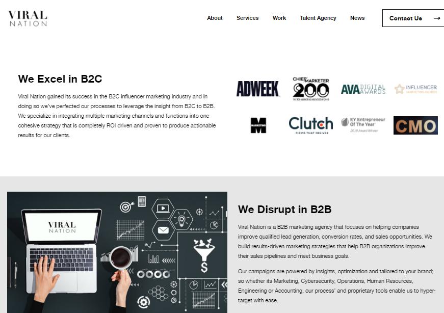 Viral Nation Marketing Agency Disrupting the B2C and B2B Strategies