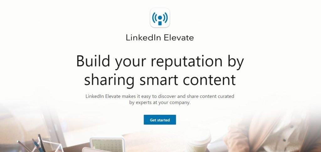 Employee advocacy platforms – Screenshot of the LinkedIn Elevate Homepage