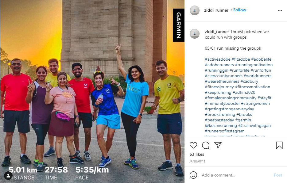 Screenshot of a post from Adobe's Employee Advocacy Program