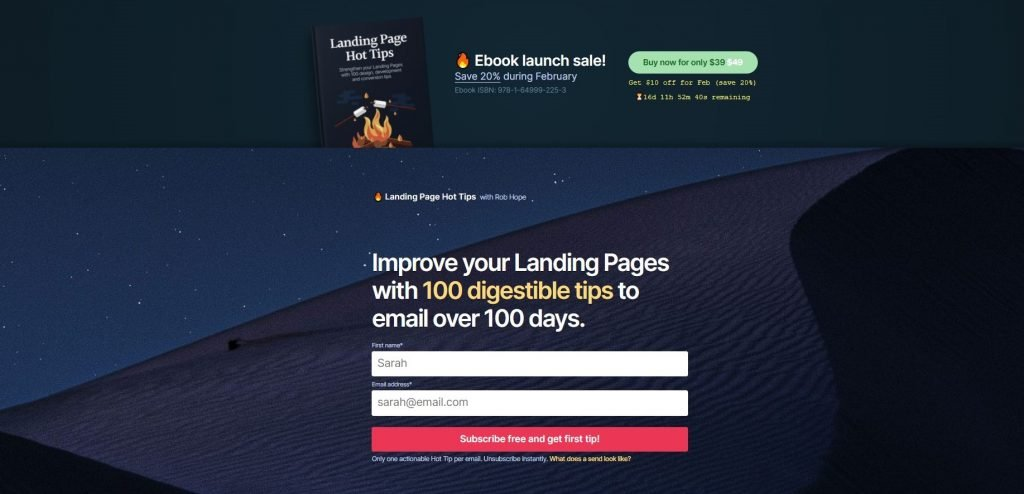 One Page Love Landing Page