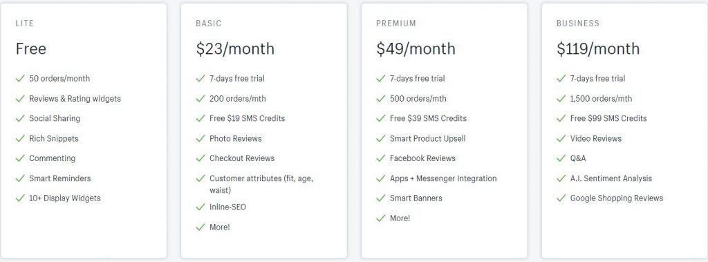 Stamped.io pricing