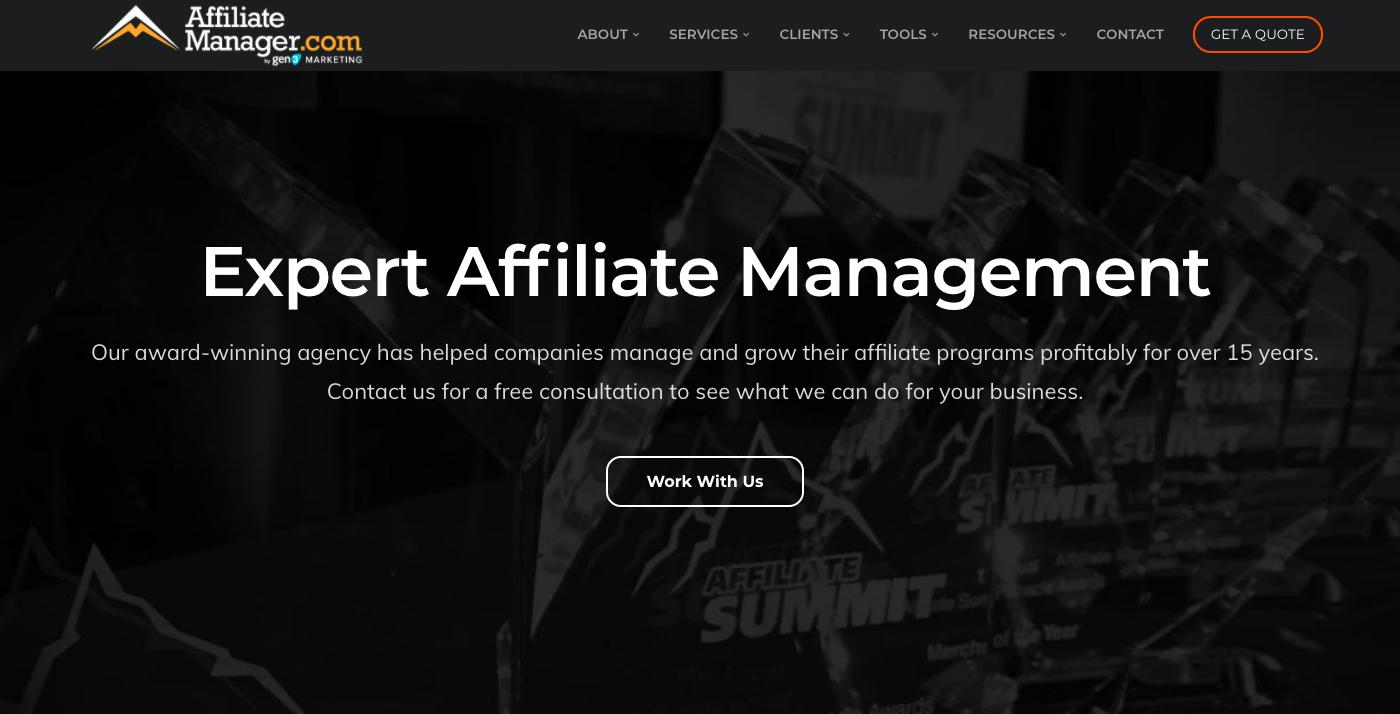 affiliate manager website