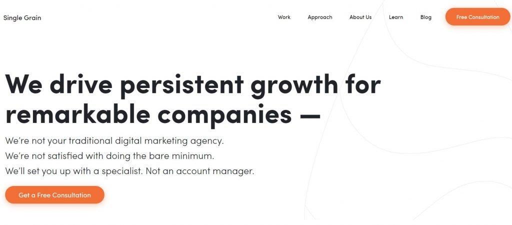 SingleGrain_SaaS marketing agency