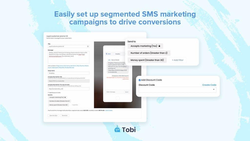 Tobi_Shopify SMS marketing