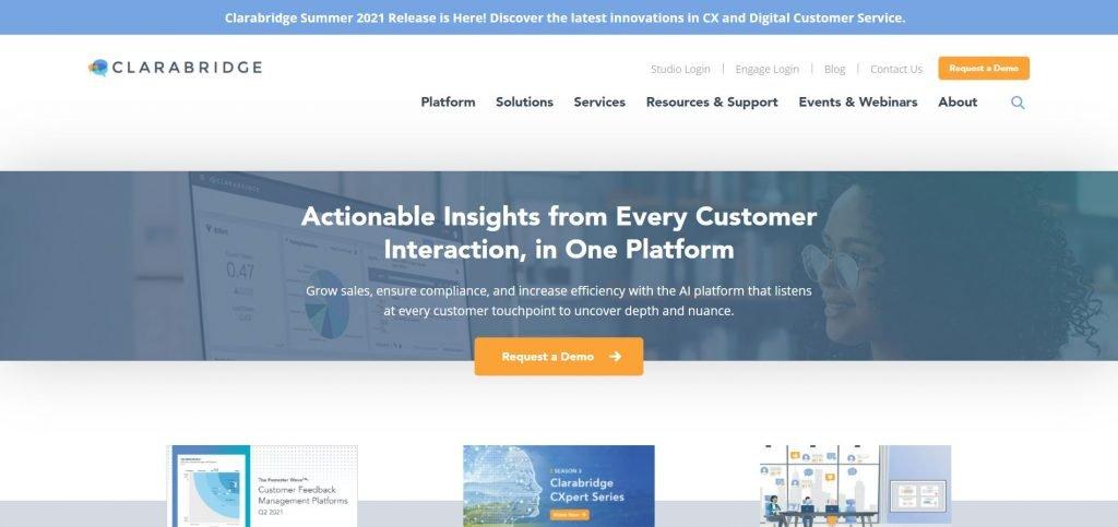 Clarabridge_customer feedback software