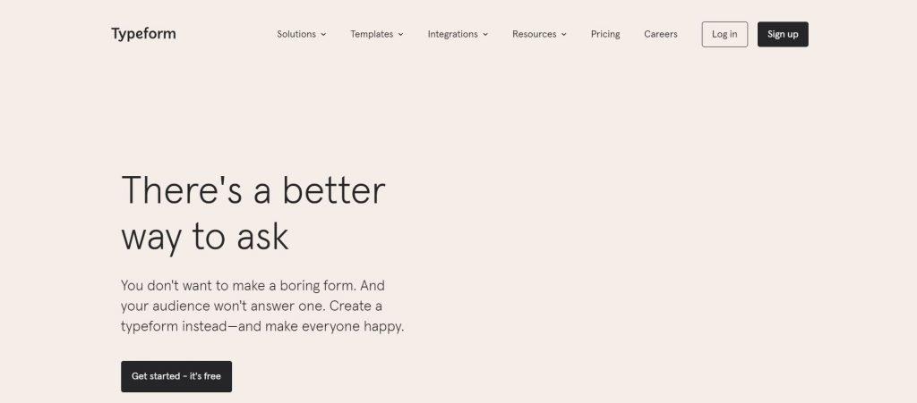 Typeform_customer feedback software