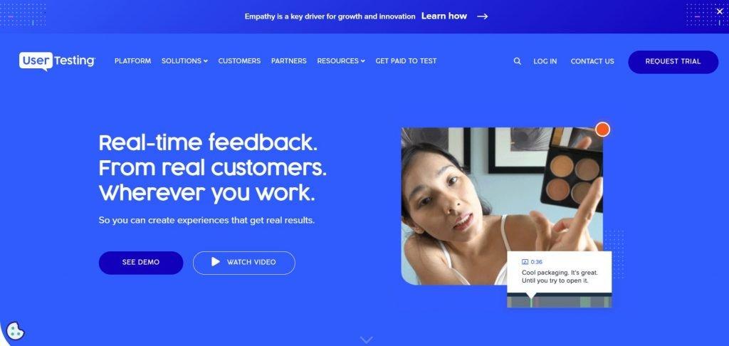Usertesting_customer feedback software