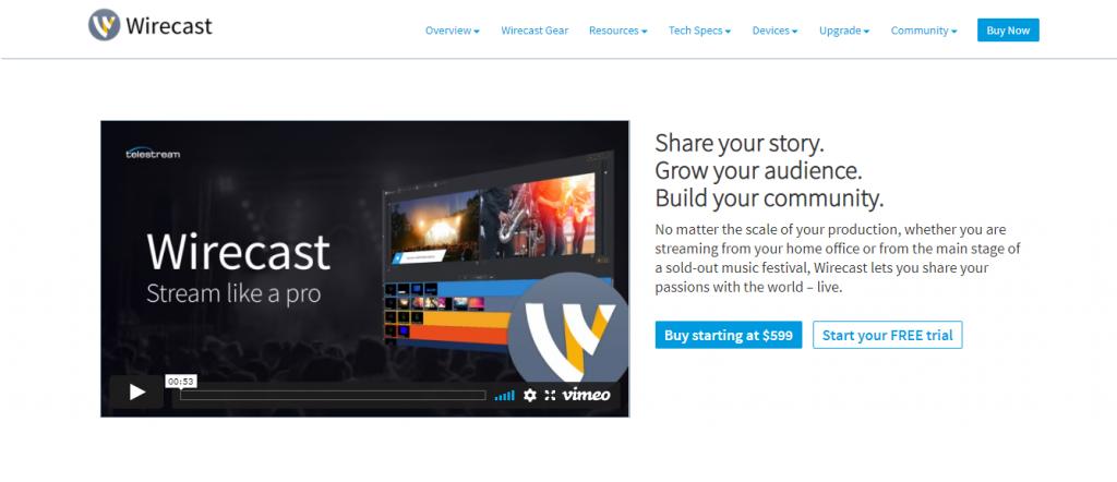 Wirecast Website