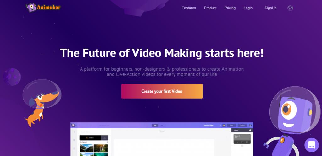Animaker Website