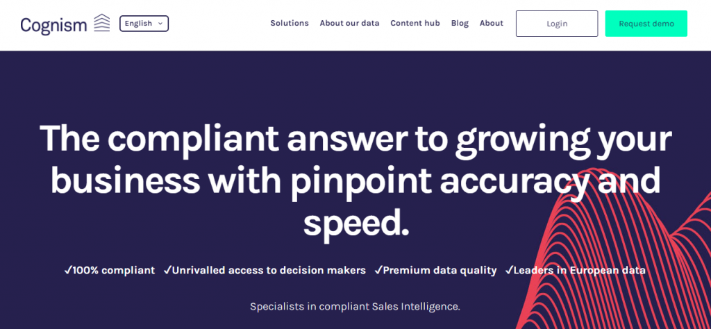 B2B Lead Generation Software - Screenshot of the Cognism Homepage