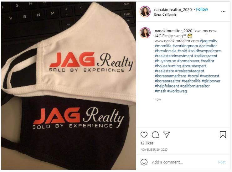 Company Swag Idea - JAG Reality - Screenshot from Instagram