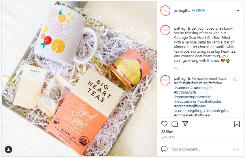 Company Swag Idea - Tea Drops - Screenshot from Instagram