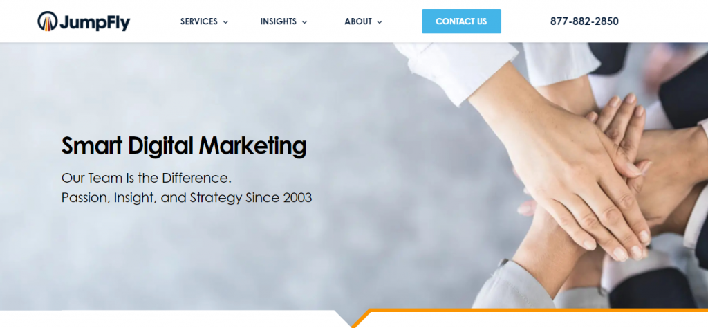 Screenshot of Jumpfly PPC Management Tools Homepage