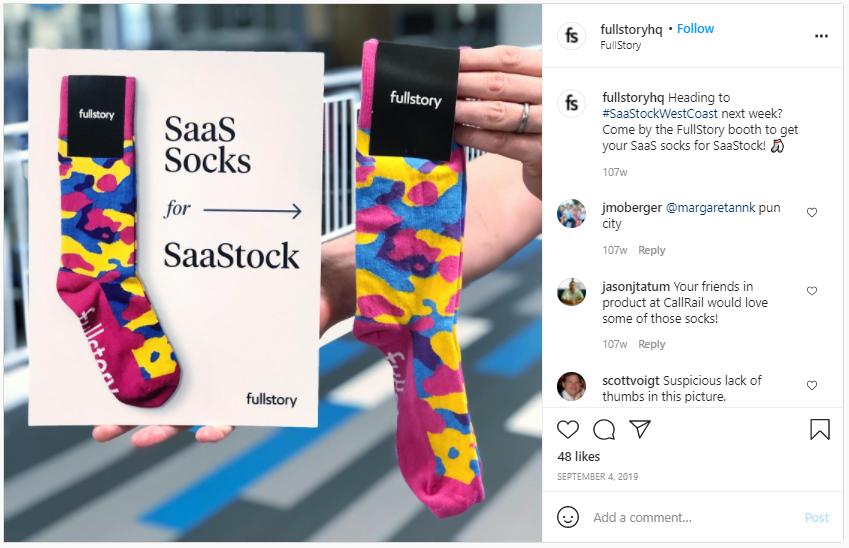 Company Swag Idea - Full Story - Screenshot from Instagram