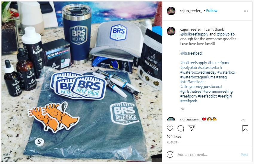Company Swag Idea - Cajun Reef - Screenshot from Instagram